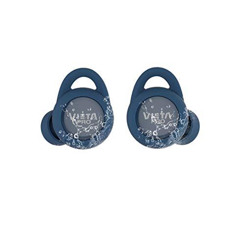 Vieta Pro VHP-TW20LB - Auricular Bluetooth 5.0, con función Manos Libres, Resistencia al Agua ipx7, 18 Horas de batería y Acceso al Asistente de Voz, Azul