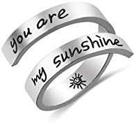 Adjustable Ring Jewelry Rings Birthday Gifts for Girls Women you are my sunshine Ring product image