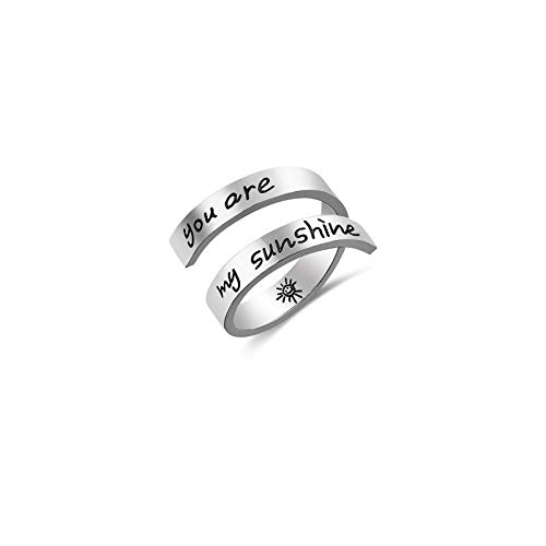 You are my sunshine Ring Birthday Gifts for Girls Women