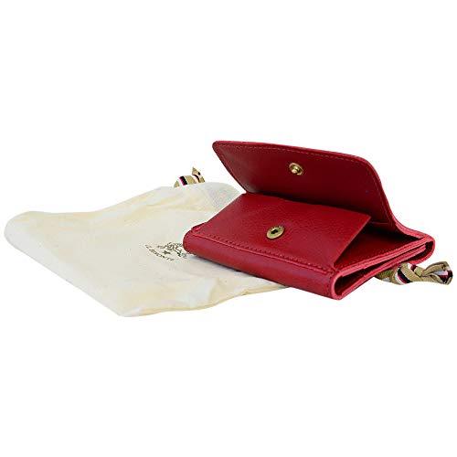 [イルビゾンテ]ILBISONTEイルビゾンテ財布C0455P245Rosso三つ折り財布ボタン式型押しロゴ[並行輸入品]