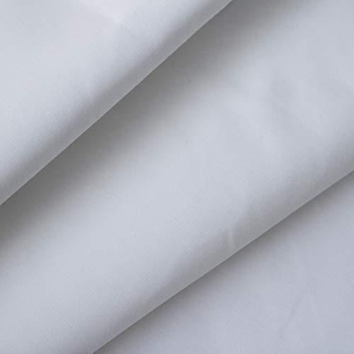 Tela Para Mascarilla a Metros POLE -  Tejido Lavable Homologado -  Doble Capa de Tela Hidrófuga para mascarillas Compatible con la norma UNE 0065 : 2020 (Blanco)