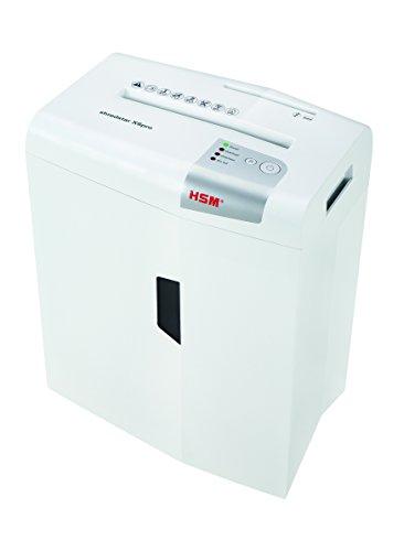 HSM Shredstar X6Pro - Destructora de documentos, 2 x 15 mm, color blanco plata