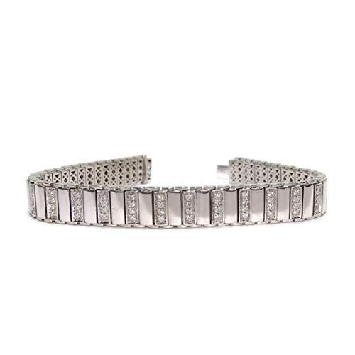 Never Say Never Braccialetto semirigido con 1.41cts di Diamanti in Oro Bianco 18K Molto Forte.