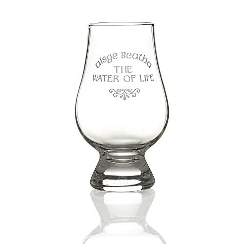 Eburya Glencairn Whisky Tasting Glas mit Gravur 'Uisgebeatha - The Water of Life'