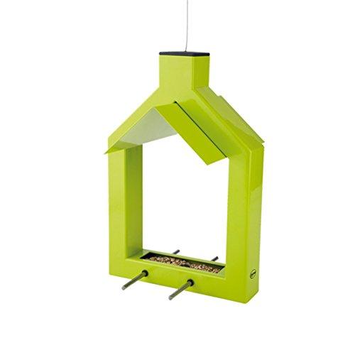 Zone d'extérieur Alicante 8211918 – Distributeur de Graines pour Oiseaux Sauvages Métal Table Double Perche en vert citron
