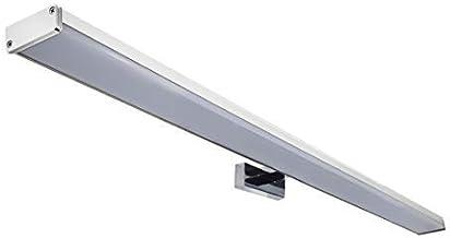 Oktalplex Lighting Spiegellicht BALI 15 W LED | badkamerlamp wand boven spiegel IP44 78 cm | Warm wit 3000K Zilver/Chroom