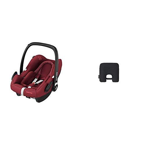 Maxi-Cosi Rock Babyschale, sicherer Gruppe 0+ i-Size Baby-Kindersitz (0-13 kg), nutzbar ab der Geburt bis ca. 12 Monate, passend für FamilyFix One Basisstation, essential red + Maxi-Cosi e-Safety