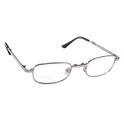 THG Metall Gestell Lesebrille Lesehilfe in verschiedenen Sehstärken Brille + 1,50 Dioptrien mit Brillenhülle