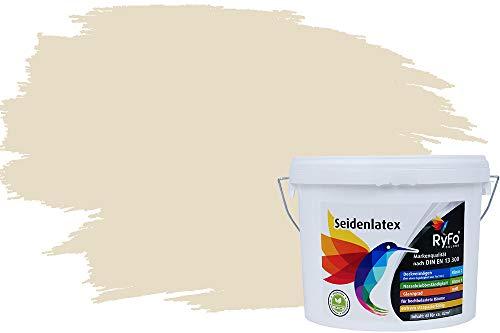 RyFo Colors Seidenlatex Trend Gelbtöne Vanillegelb 12,5l - bunte Innenfarbe, weitere Gelb Farbtöne und Größen erhältlich, Deckkraft Klasse 1