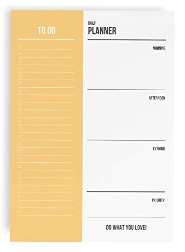 To-Do Liste Tagesplaner A5 / 50 Seiten - To Do List Daily Planner