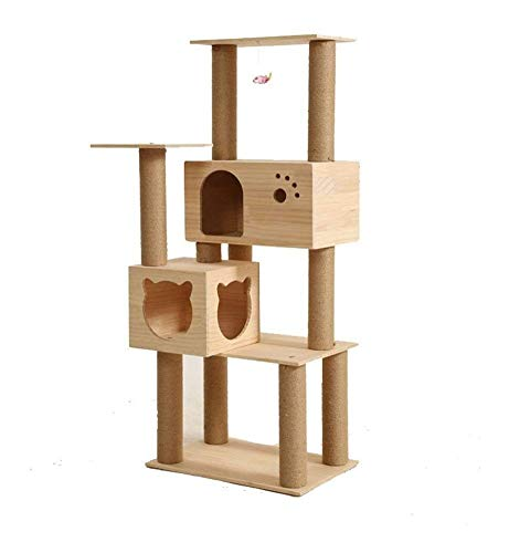 HLZY Cat Tower Popular Cat Toy Cat Trees and Towers Cat Castle Toys, Pet Supplies Natural Sisal Rope Cathead Cat Toy Cat Tree Pet Furniture