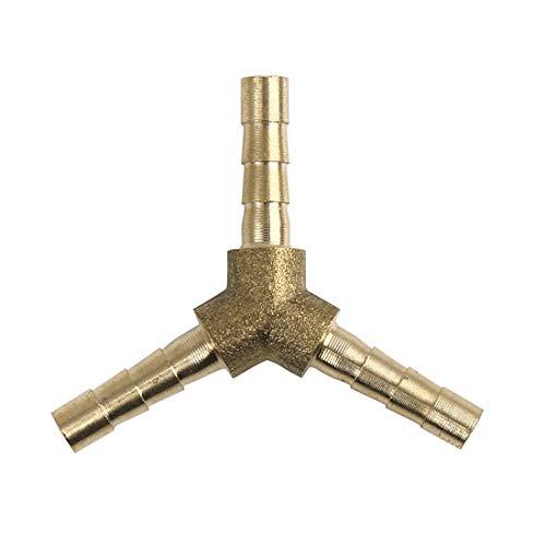 X AUTOHAUX - Conector en Y de 3 vías para Manguera de 4 mm de latón para Aceite de Gas de Aire