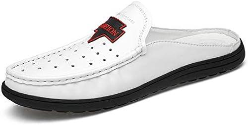 TYX-SS été Nouvelles Chaussures de Plage Plage Chaussures pour Hommes en Cuir Sandales Hommes Sandales Sauvages et Pantoufles  obtenir la dernière