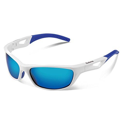 Vimbloom Hombre Gafas de Sol Deportivas polarizadas para béisbol, Atletismo, Ciclismo, Golf, Pesca VI685 (Blanco Azul)