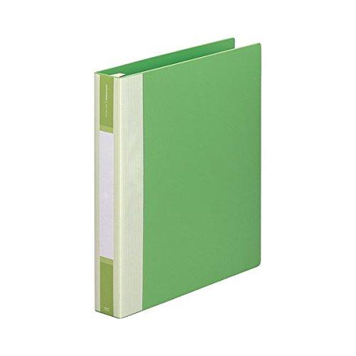 (まとめ) リヒトラブ リクエスト リフィルバインダーMTL A4タテ 30穴 120枚収容 背幅50mm 黄緑 G3903-6 1冊 〔×5セット〕