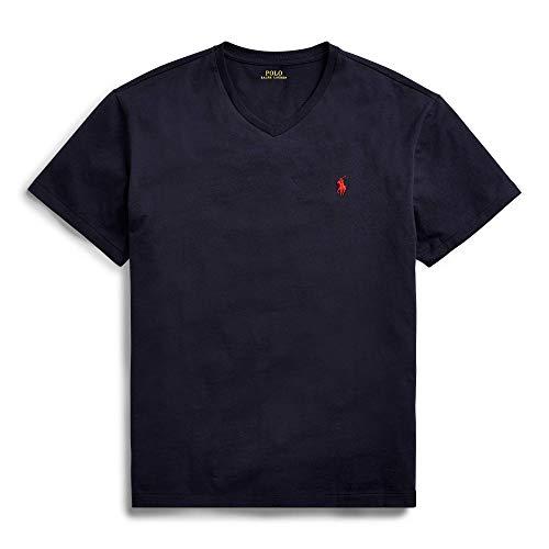 Polo Ralph Lauren playera con cuello en V de ajuste clásico para hombre - Azul - XX-Large