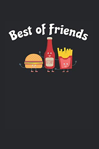 Best of Friends   Ketchup Essen Soße Rezeptbuch Geschenk: Notizbuch A5 120 Seiten liniert