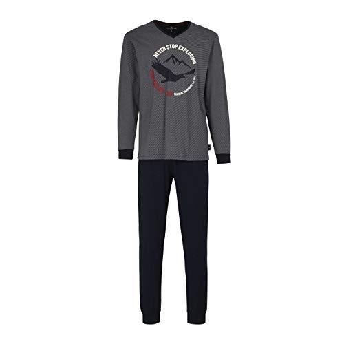 TOM TAILOR Herren Pyjama blau quergestreift 1er Pack 50