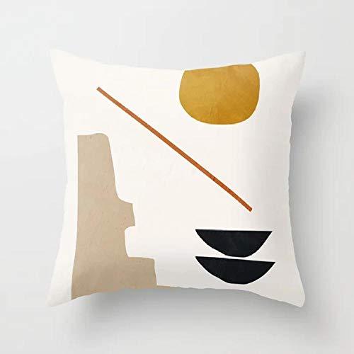 YQYMSPX Fundas de Almohada 50cmX50cm/19.7inchX19.7inch de Piel de melocotón cojín de Estilo de la Mandala Throw Pillow Case para Sofá Silla Cama Coche Cuenco de Vino Abstracto