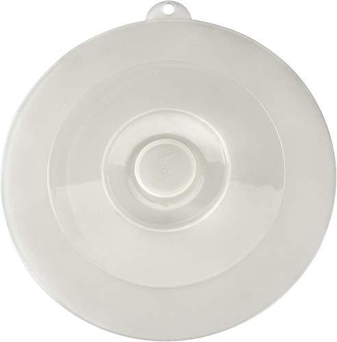 Lurch 220605 Universaldeckel für Töpfe, Pfannen und Schüsseln aus 100% BPA-freiem Platin Silikon, Temperatur unempfindlich, transparent, ø 27,5 cm