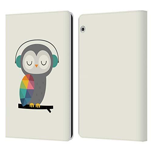 Head Hülle Designs Offizielle Andy Westface Eule Tierwelt Leder Brieftaschen Handyhülle Hülle Huelle kompatibel mit Huawei MediaPad T3 10