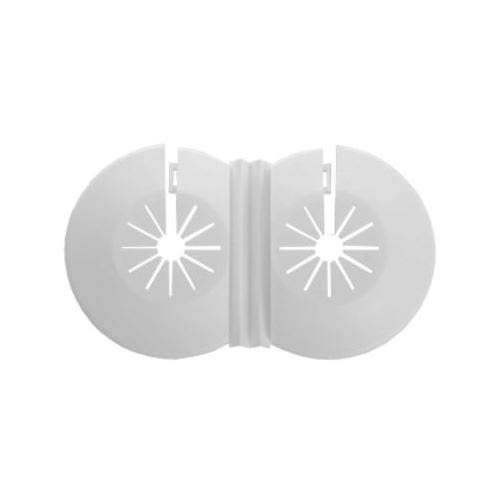 Dobles blancos cuellos radiador tubería de agua de plástico 8-22mm universales Gemelas cubren rosas