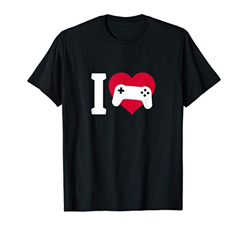 I Love Gaming Spiele Geschenk Game Over Controller Gamepad T-Shirt