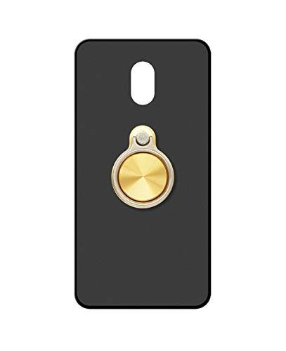 Sunrive Kompatibel mit Meizu M3 Max Hülle Silikon, 360°drehbarer Ständer Ring Fingerhalter Fingerhalterung Handyhülle matt Schutzhülle Etui Hülle (A3 Golden) MEHRWEG