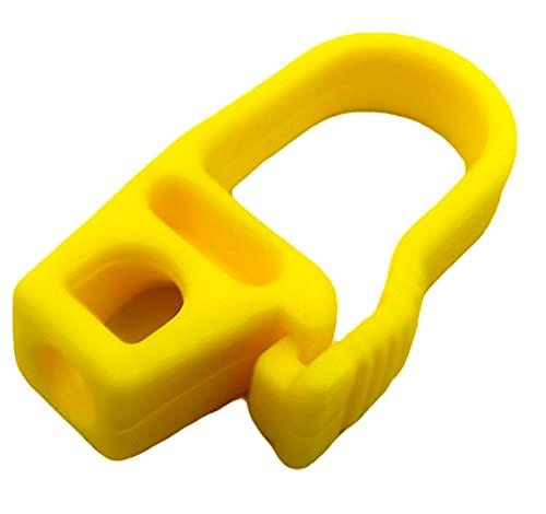 Kombi 20 Ganci Plastica Corda Elastica Fune 8 mm Pvc Nautica Telone Estensibile Moschettone, Gancio Moschettone in Plastica Corda Fune Elastica 20 pezzi