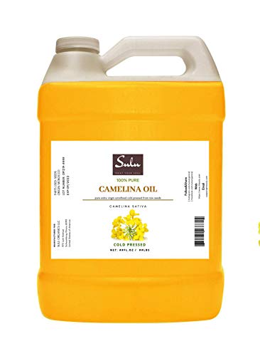 100% Pure Extra Virgin Unrefined Cold Pressed Camelina Seed Oil 1 Gallon (128 FL.OZ)