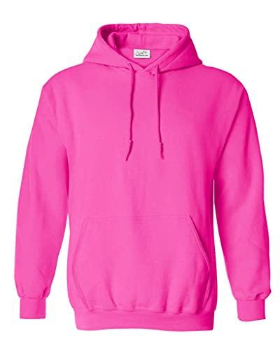 Joe's USA Hoodies Soft & Cozy Hooded Sweatshirt,4X-Large-Safety Pink