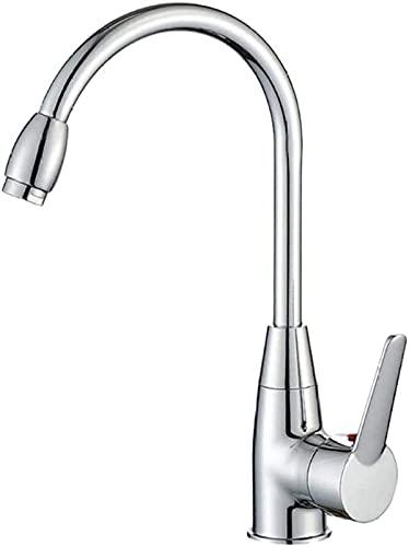FCWMD Grifo Duradero Práctico Moda Profesional Ducha Cuarto de baño Cocina Grifo Mezclador de Grifo de Agua fría y Caliente 31X19cm