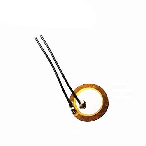 Chironal 10PCS 15mm Piezo Elements Sounder Sensor Trigger Drum Disc 6.0KHZ + Wire Copper