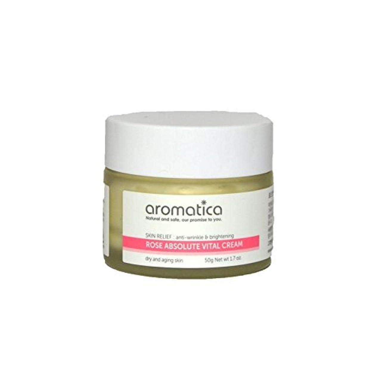 リンケージセンターイサカは絶対不可欠なクリーム50グラムのバラ x2 - aromatica Rose Absolute Vital Cream 50g (Pack of 2) [並行輸入品]