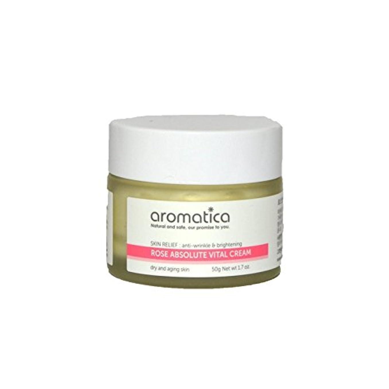 レンチ考えるを通してaromatica Rose Absolute Vital Cream 50g (Pack of 6) - は絶対不可欠なクリーム50グラムのバラ x6 [並行輸入品]