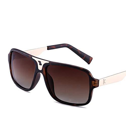 BERYLSHOP Gafas de Sol Casuales Retro Unisex cuadradas, Lente UV400 con Espejo (Color : Brown)