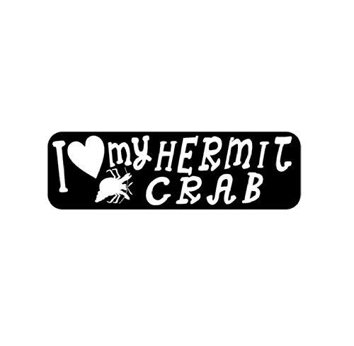 MUXIAND Auto Sticker, PVC DIY Auto raamdecoratie Vinyl Sticker en Decal Styling Motorfiets Deur Lichaam Gift Mijn kluizenaar krab 17x5cm 5 Stks