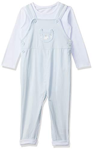 Mothercare Cord Dungaree & Body Salopette, Blue (Pale Blue), 9 Mois Bébé garçon