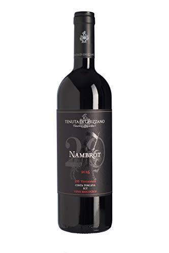 Tenuta di Ghizzano - Nambrot 2017 - Vino Tinto BIO I.G.T. Costa Toscana. Vino Premiado, Dedicado al Caballero de Carlomagno Franco Nambrot - Botella 0,75 Litros