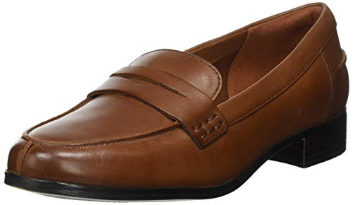 Clarks Damen Hamble Loafer Slipper, Braun (Tan Leather), 38 EU
