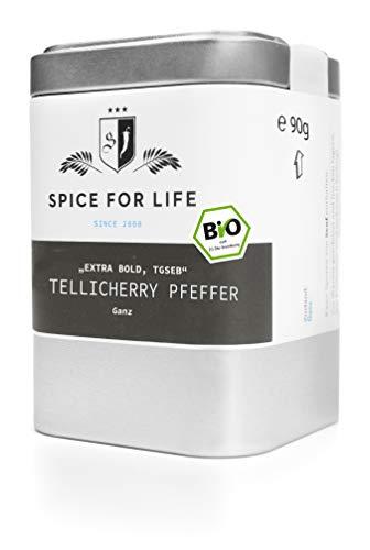 Spice for Life Tellicherry Pfeffer - Black Balls of Fire ganz, Bio, 90g