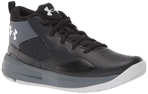 Under Armour Grade School Lockdown 5, Zapatillas de Baloncesto Unisex Adulto, Negro Gris Halo Gris 001, 36 EU