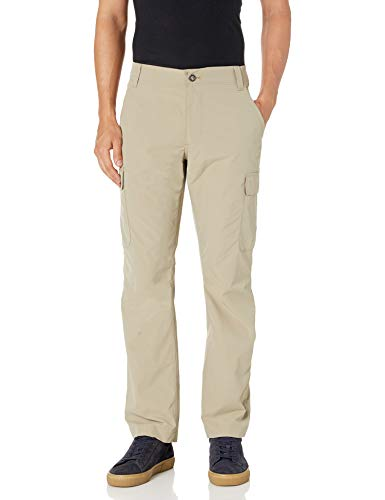 Amazon Essentials Men's Straight-Fit Rugged Stretch Cargo Outdoor Lightweight Pant, Light Khaki, 40W x 30L