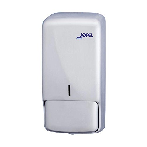 Toilettenpapierhalter Großrollen Jofel AC53050Futura Seifenspender, Satin Edelstahl nachfüllbar 0,85l