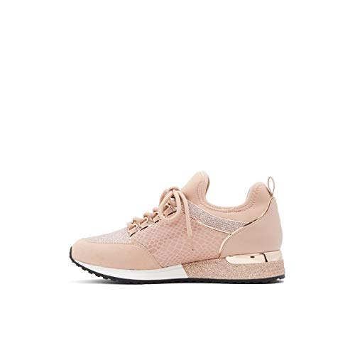 ALDO womens Courtwood Fashion Lace Up Sneaker, Rose Gold, 8 US