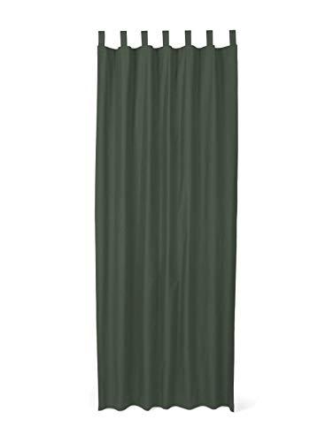 TOM TAILOR Unisex Home Schlaufenschal Vorhang Unifarben bottel-Green,140/255,I515,7000