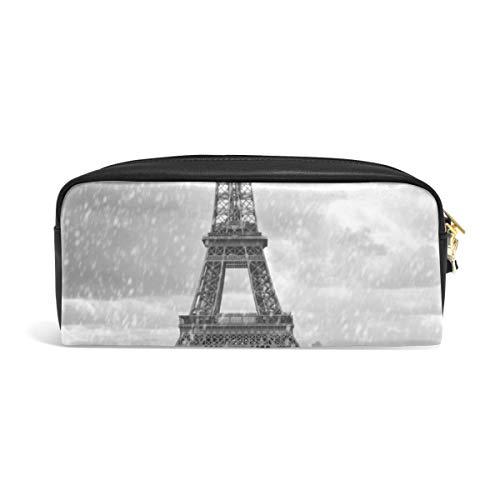 DEZIRO Eiffelturm im Regen mit rosa Scooter Muster Federmäppchen Kosmetiktasche