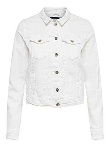 ONLY Female Jeansjacke Einfarbige 44White