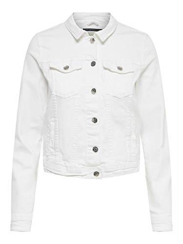 ONLY NOS Onltia Dnm Jacket BB Col Bex168a Noos Chaqueta Vaquera, Blanco (White White), 42 (Talla del Fabricante: 40.0) para Mujer