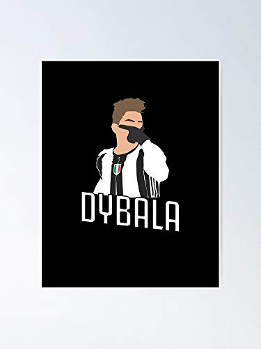 MCTEL Paulo Dybala Mask Poster 12x16 Inch No Frame Board for Office Decor, Best Gift Dad Mom Grandmother and Your Friends